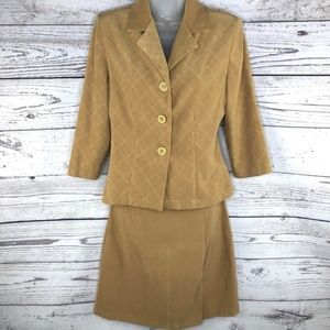 Vintage Skirts - VTG Ultra Dress Camel Color Faux Suede Skirt Suit